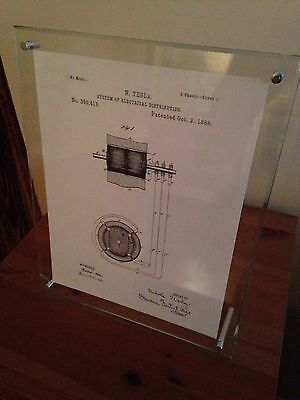 """Tesla Patents Vol. 3 - 5 Cleaned and Sharpened Patents on 81/2""""x11"""" Cotton Paper"""