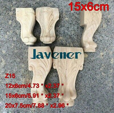 15x6cm Wood Carved Onlay Applique Carpenter Decal Leg Z15 1/2PCS