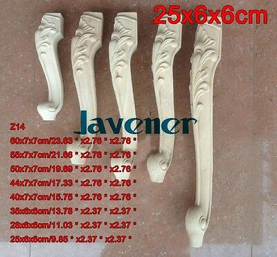 25x6x6cm Wood Carved Onlay Applique Carpenter Decal Leg Z14 1/2PCS
