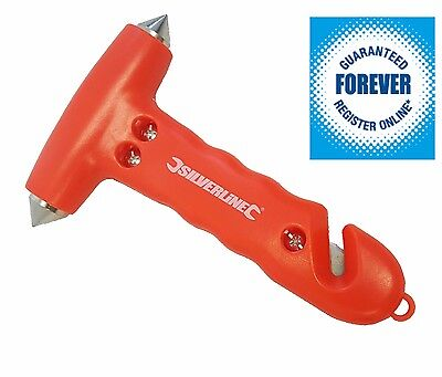 Life-Saving Emergency Hammer Window Glass Breaker & Seat Belt Cutter Safety Tool