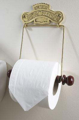 """Polished Brass """"The Albert"""" Wall Mounted Toilet Roll Holder"""