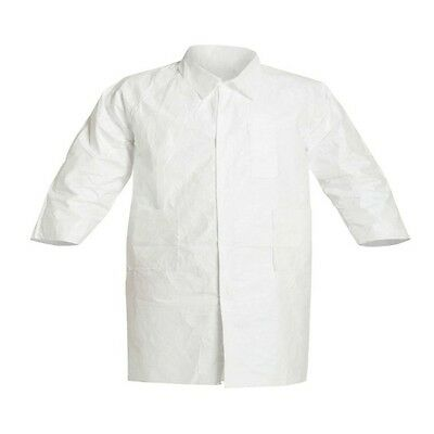 IsoClean IC224S Tyvek Lab Coat, Medium, White (Pack of 30) (M1493-A)