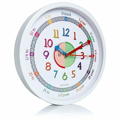 Clockminster Time Teacher Silent Kids Wall Clock Child Bedroom Children Non Tick