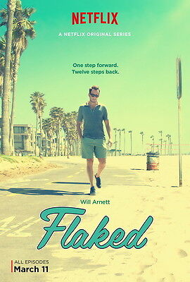 "1296 Hot Movie TV Shows - Flaked Season 1 14""x21"" Poster"