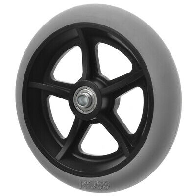 "150mm (6"") Non-Marking Grey Rubber Wheelchair Wheel"