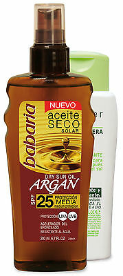 babaria Argan Sonnenöl LSF25 200ml + After Sun