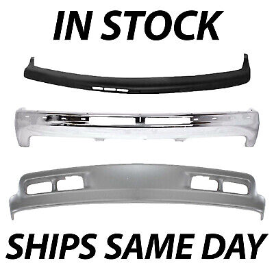 Brand New Complete Steel Front Bumper Kit For 2000-2006 Chevy Suburban Tahoe