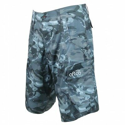 """AFTCO M82 Tactical Fishing Shorts - 21"""" Length- Blue Camo - Free Shipping"""