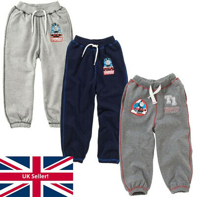 Boys Thomas & Friends T1 Embroidered Fleece Jog Pants Charcoal Grey Navy 1-6yrs