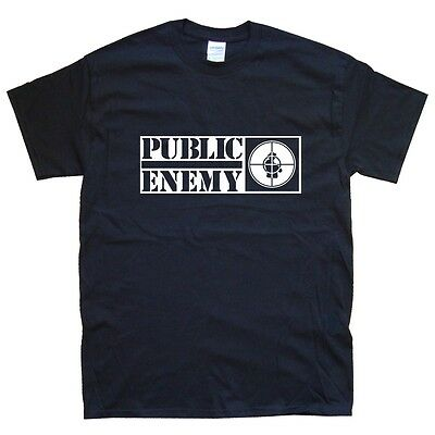 PUBLIC ENEMY T-SHIRT sizes S M L XL XXL colours Black, White