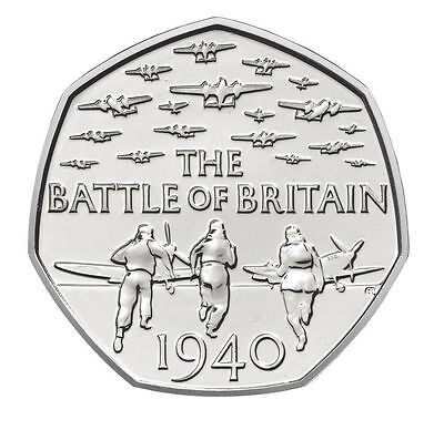 2015 50P COIN BATTLE OF BRITAIN 5TH PORTRAIT RARE FIFTY PENCE UNCIRCULATED (k)