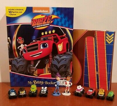 Blaze and the Monster Machines My Busy Book +12 Character Figurines & Playmat