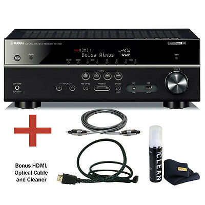 Yamaha RX-V581 7.2 Channel Network AV Receiver with Bluetooth and Bundle