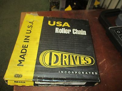 Drives Roller Chain 50-2R Size: 10Ft New Surplus