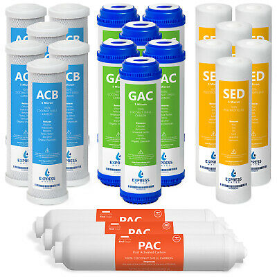 21 Pcs-Water Filters Sediment Carbon Reverse Osmosis Drinking 3 Year Supply