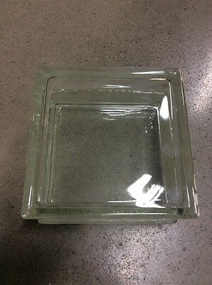 ARCHITECTURAL CLEAR GLASS SQUARE BRICK TILE WINDOW WALL BLOCK 8 INCH  8x8x4