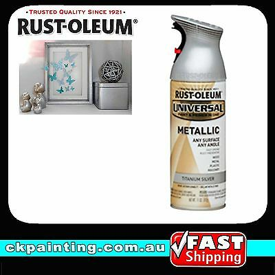 Rustoleum Universal All Purpose Metallic Spray Paint Titanium Silver