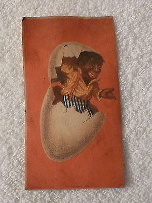 Victorian Black Americana African Man in a Cracked Egg Trade Card - Forbes 1878