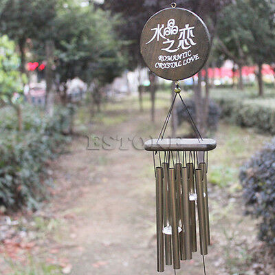 Amazing Antique Bronze 8 Tubes Bells Wind Chimes Yard Garden Outdoor Decor