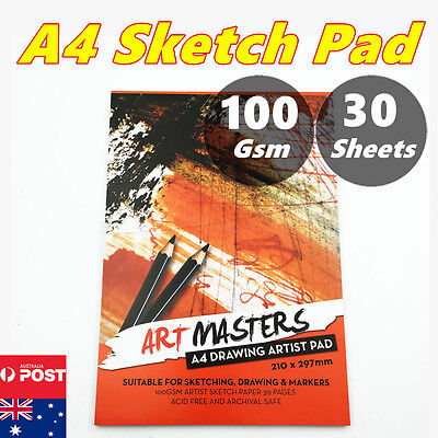 A4 30 pages Art Artist Sketchbook Sketch Pad Paper Journal Drawing Craft