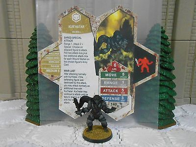 Heroscape Custom Kur'Hatar Double Sided Card & Figure w/ Sleeve Valkrill