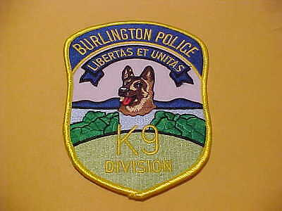 Burlington Vermont K-9  Police Patch **** Free Ship In Usa *****
