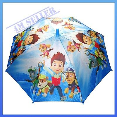 Kids Boys Rain Proof Umbrella Rainproof Raincoat Paw Patrol Rescue Ryder Skye