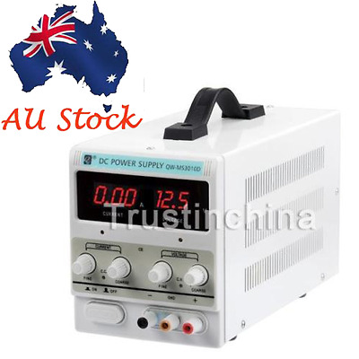 New Adjustable 30V 10A DC Power Supply Variable Digital Display Lab Grade Mode