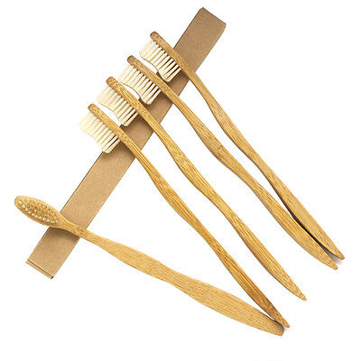 12PCS/lot Dr.Perfect Bamboo Toothbrush Oral Care Healthy Medium Beige Bristles