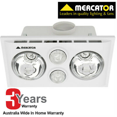 Mercator 2 x 275w Lava Duo Bathroom Heater  - COLOUR - WHITE