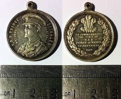 Medal • 1920 Royal Visit to Australia by Edward, Prince of Wales • Misstrike