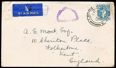 NIGERIA • 1943 • Censored? Airmail Cover to UK