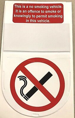 SHIELD TAX DISC HOLDER WITH NO SMOKING SIGN (adhesive backed)
