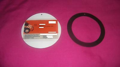 White Magnetic Car Tax Disc Holder With Pocket For Card