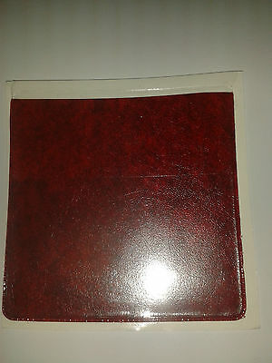 Coloured Parking Permit Holder In Red Leather Look Pvc + Extra Pock For Card