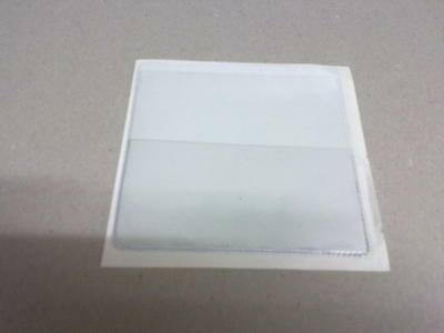 Qty 100 CLEAR PERMIT HOLDER (WINDOW STICK BACKING) WITH EXTRA FRONT POCKET