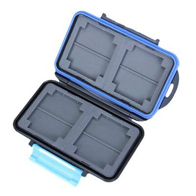 Memory Card Carrying Case Holder Hold 4 CF or 8 SD BT