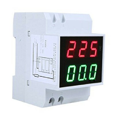 Din-Rail AC 110V/220V Digital Voltmeter Ammeter Volt Amp Meter LED Display BT