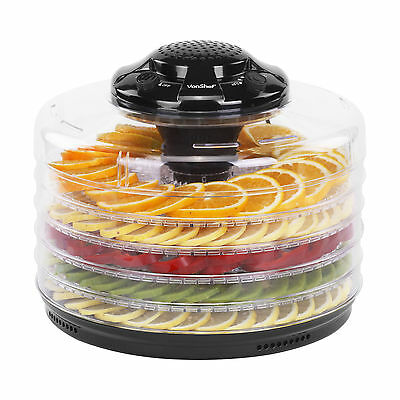 VonShef 5 Tray Food Dehydrator Fruit Dryer Machine with Thermostat Control