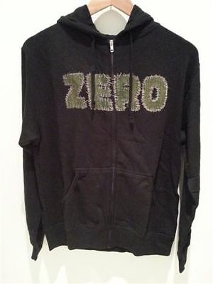 Zero Skateboards Zip Hoodie Stitch Black Hoody Fleece jacket FREE POST