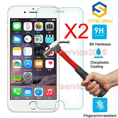 2Pcs 9H+ Premium Tempered Glass Screen Protector For Apple iPhone 6 6S 7 Plus