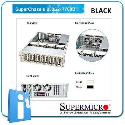 SUPERMICRO 933S2-R760B Redundant BLACK - 3 U Rack Server Chassis CSE-933S2-R760B