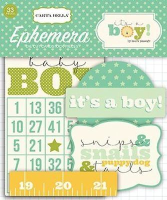 "Carta Bella ""it's A Boy"" Ephemera Die Cuts Baby Toddler Scrapjack's Place"