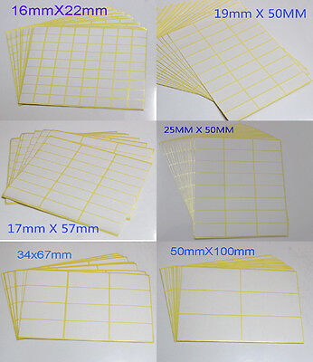 New Sticker Labels Rectangle White Blank Labels Self Adhesive Address Labels