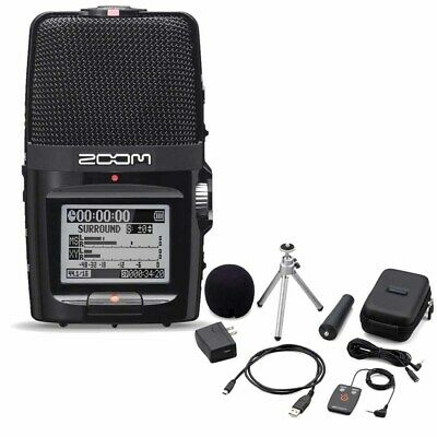 Zoom H2n Handy Handheld Digital Multitrack Recorder with APH-2n Accessory Pack