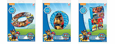 Paw Patrol Swimming Inflatables Swim Ring Donut Arm Bands Beach Ball Boy Rubble