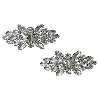 "Glitzy Jewelled Shoe Clips, Shoe Jewellery, Shoe Gems, Brooches (1 Pair) ""Annie"""