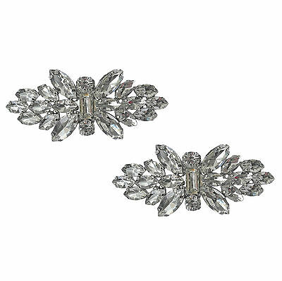 "Jewelled Shoe Clips, Shoe Jewels, Bridal Prom Shoe Accessories (1 Pair) ""Annie"""