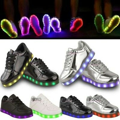 Niña Zapatillas Infantiles Parpadeantes Led Luminoso Lights Cargador USB