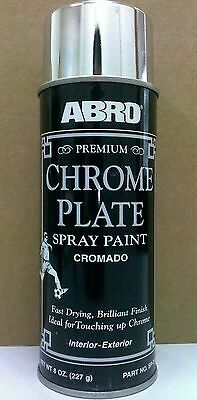 NEW Premium CHROME Plate Spray Paint, ABRO SP-317, 8oz/227g